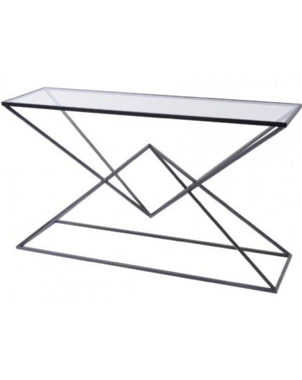 Libra Black Pyramid Console Table